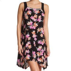 Kensie Black Floral Handkerchief Chemise Nightgown